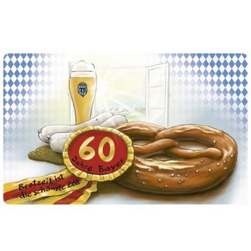 Frühstücksbrettchen 60 Jahre Bayer Geburtstag Brotzeit ist die schönste Zeit