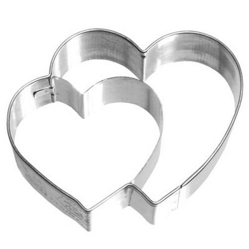 Ausstechform Herz 6,5 cm Ausstecher Doppelherz Birkmann