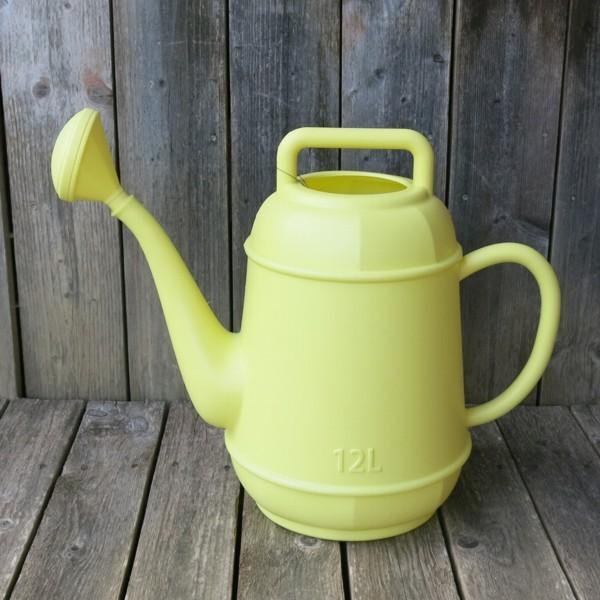 Gießkanne gelb 12 l Kunststoff Form Kaffeekanne NEWSTALGIE
