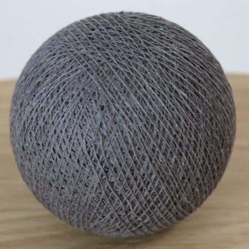Cotton Ball Lights Kugel dunkel grau für Bälle Lichterkette Baumwolle