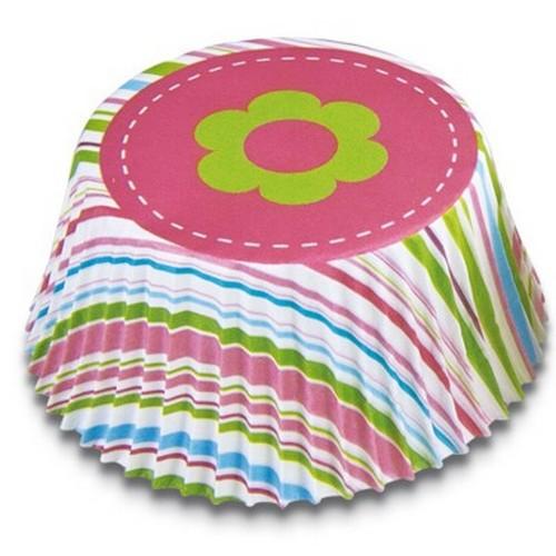Muffinförmchen Cupcake Papierförmchen Muffin Streifen Blume Städter