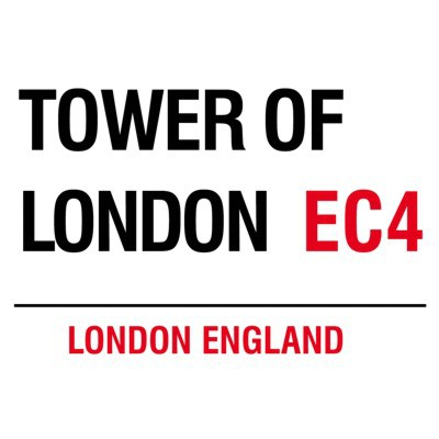 Metallschild Tower of London mittel Blechschild London Magnettafel