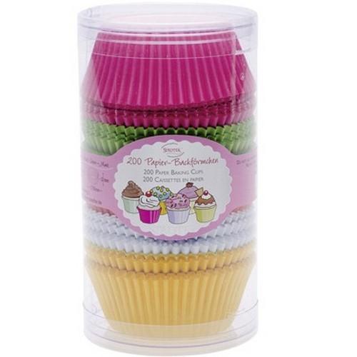 MINI Muffinförmchen Cupcake Papierförmchen Muffin bunt 200 Stück Städter
