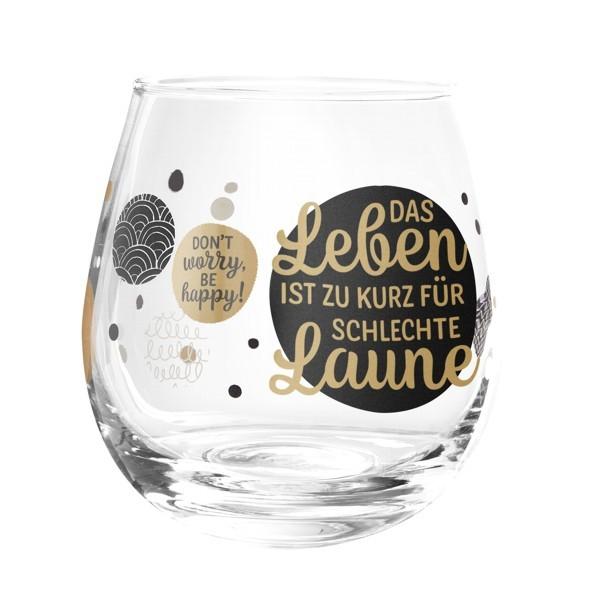 Formano Glas Spruch Das Leben ist zu kurz für schlechte Laune Wein Cocktail