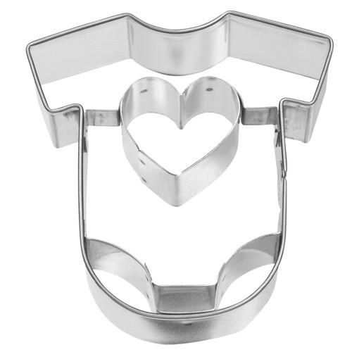 Ausstechform Babybody 7 cm Ausstecher Baby Body Strampler Birkmann