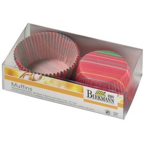 Muffinförmchen Cupcake Papierförmchen Muffin Streifen Birkmann