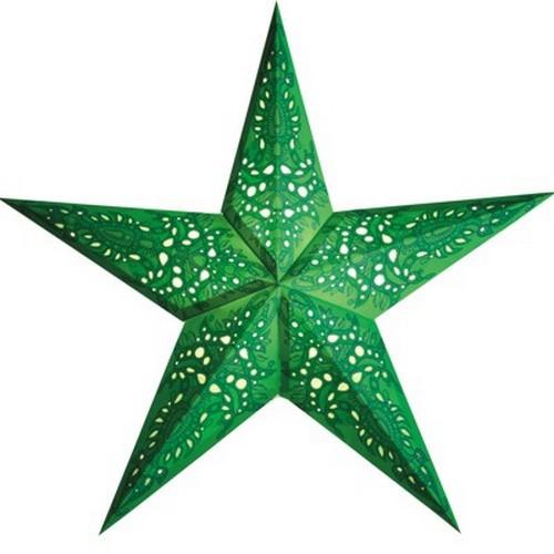Starlightz Mono grün Leuchtstern Papier Stern Lampe Weihnachtsstern