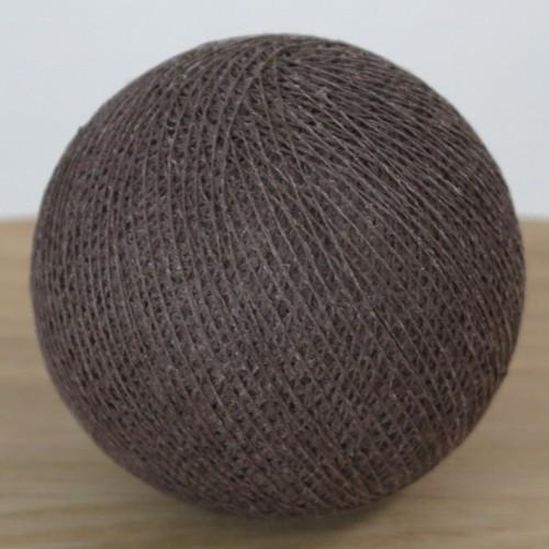 Cotton Ball Lights Kugel dunkel braun für Bälle Lichterkette Baumwolle