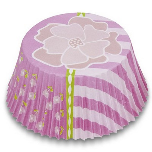 Muffinförmchen Cupcake Papierförmchen Muffin Blüte Blume pink Städter