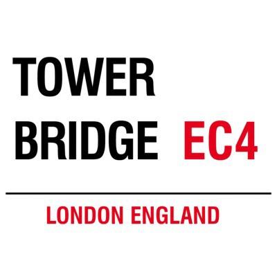 Metallschild Tower Bridge mittel Blechschild London Magnettafel