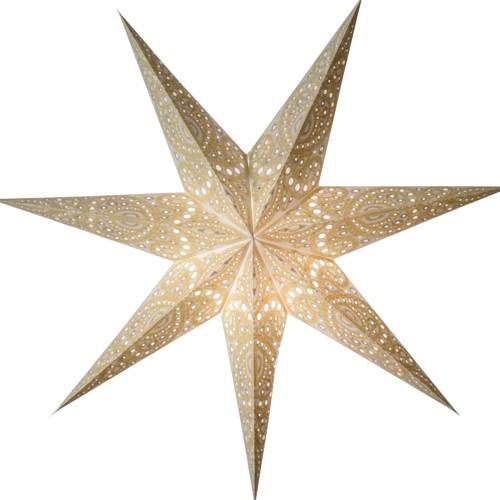 Starlightz Stern Kashmir weiß Leuchtstern Papierstern Faltstern Lampe
