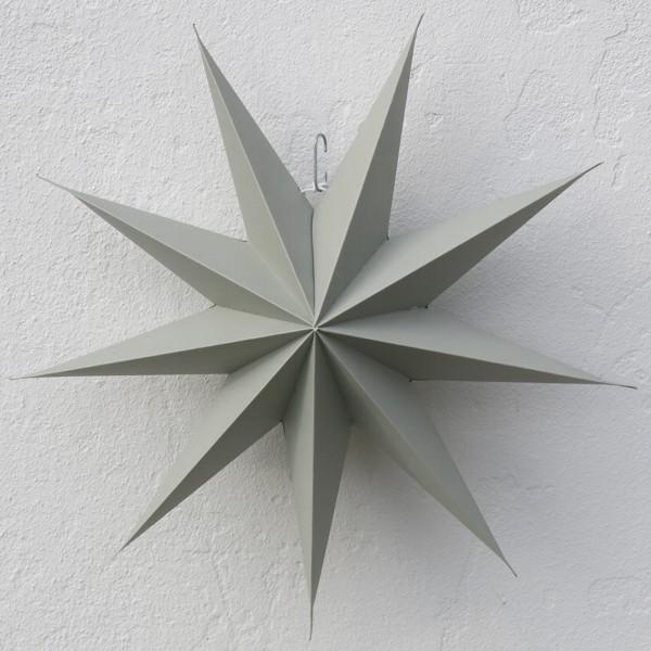 House Doctor Stern grau 45 cm 9 zackig Papier Faltstern Weihnachten