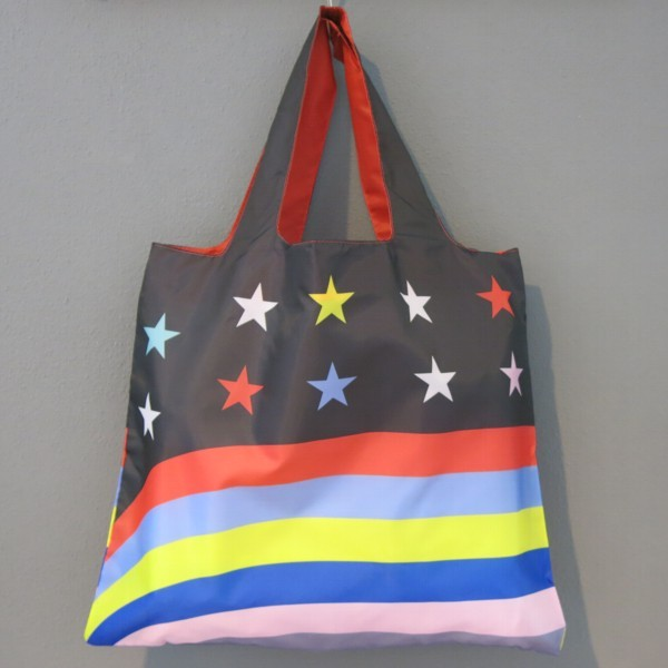 LOQI Tasche TRAVEL Stars Stripes Einkaufstasche bag Falt-Shopper