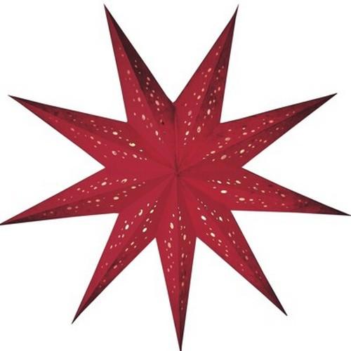 Starlightz Spumante klein rot Leuchtstern Papier Stern Lampe Weihnachtsstern