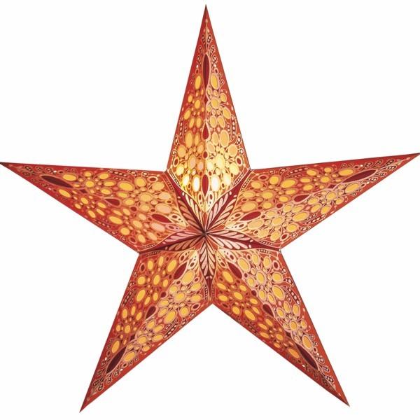 Starlightz Stern Festival orange 60 cm Leuchtsern Faltstern Papier Weihnachtsstern