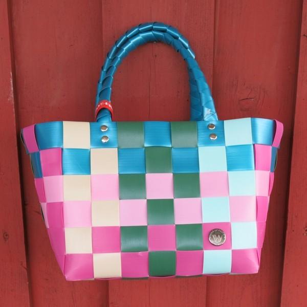 ICE BAG 5008 215Witzgall Mini Shopper Einkaufskorb klein rosa petrol