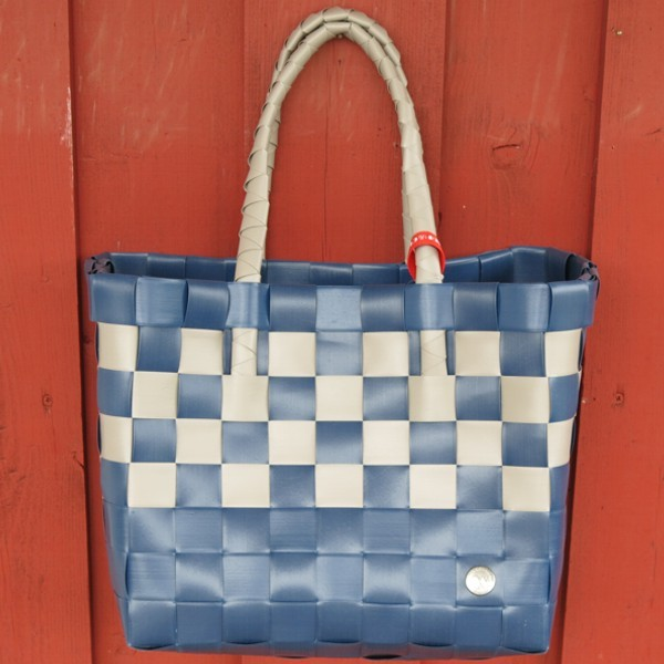 ICE BAG 5010 67 Witzgall Shopper Einkaufskorb dunkelblau taupe