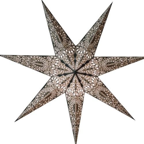 Starlightz Stern Kashmir schwarz Leuchtstern Papierstern Faltstern Lampe