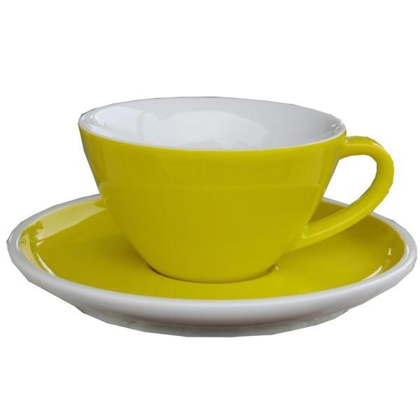 Arzberg Profi Cappuccinotasse yellow gelb 2 tlg Porzellan