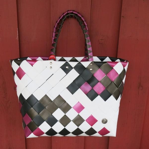 Witzgall ICE BAG Shopper 5017 01 Einkaufskorb brombeer schwarz weiß