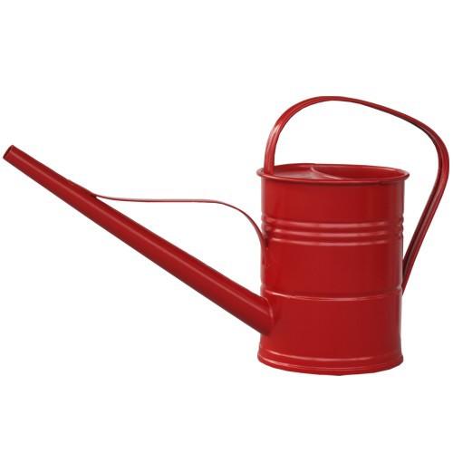Gießkanne Zink rot 1,5 l verzinkt Metall Zinkgießkanne