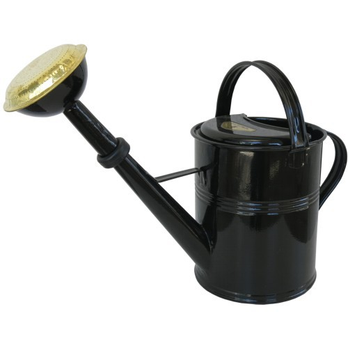 Gießkanne Zink schwarz 5 l Zinkgießkanne verzinkt Metall