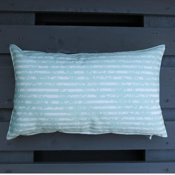 Outdoor Kissen Little stripes mint grün 50 x 30 cm Newstalgie