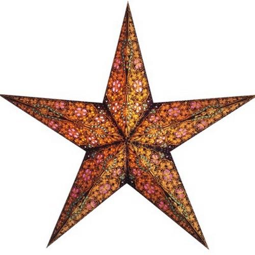 Starlightz Kalea amber bunt Leuchtstern Papier Stern Lampe Weihnachtsstern