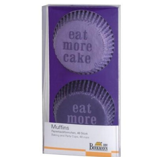 Muffinförmchen Cupcake Papierförmchen Muffin Eat more Cake Lila Birkmann