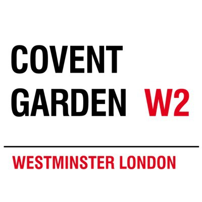 Metallschild Covent Garden mittel Blechschild London Magnettafel
