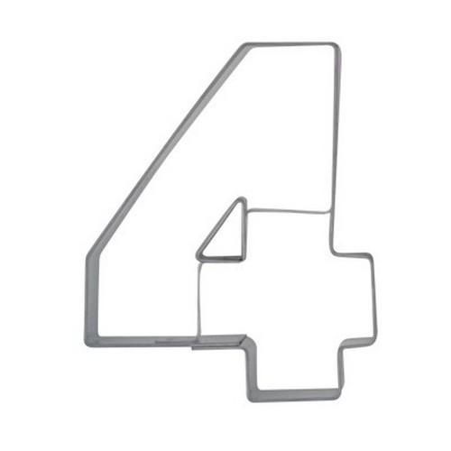 Ausstechform Zahl 4 Ausstecher Vier Zahlen 6,5 cm Städter