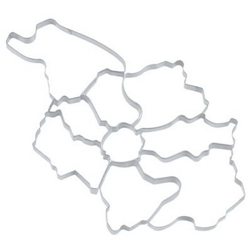 Ausstechform Köln Ausstecher Set Bezirke Stadtteile 9 Stück
