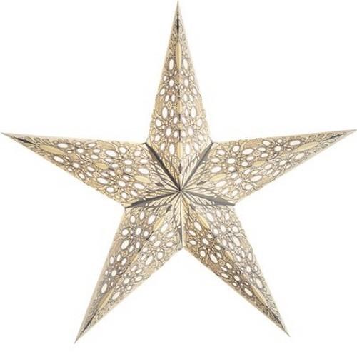 Starlightz Mono klein weiß Leuchtstern Papier Stern Lampe Weihnachtsstern