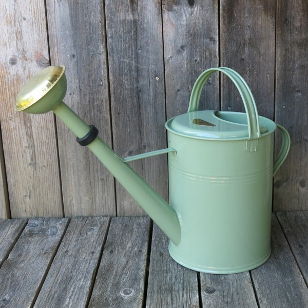 Gießkanne Zink grün Vintage 9 l Zinkgießkanne verzinkt Metall