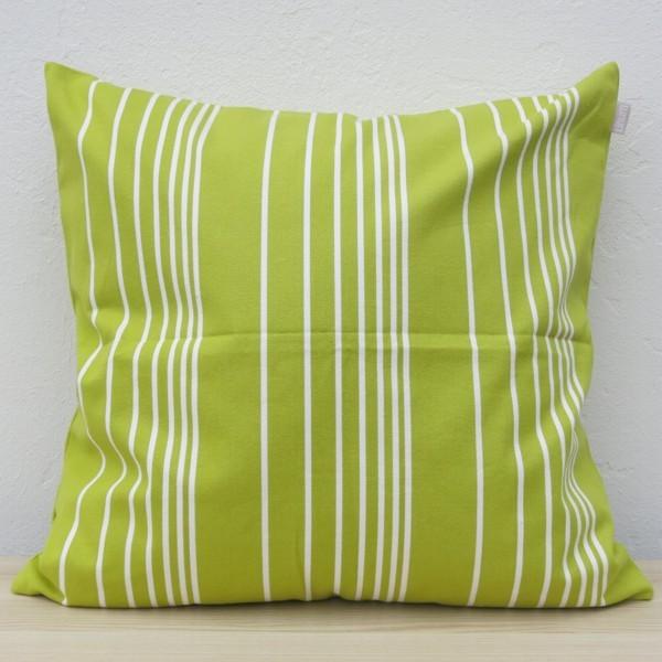 Linum Kissenhülle grün ROAD Streifen 60 x 60 cm Kissen