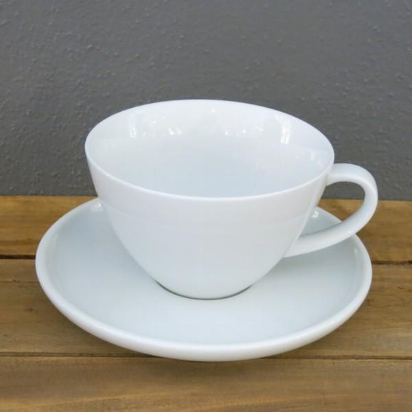 Arzberg Profi Cafe au lait Tasse weiss 2 tlg Obere u. Untere Porzellan