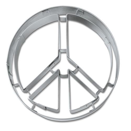 Ausstechform Peace Zeichen 6,5 cm Austecher Frieden Städter