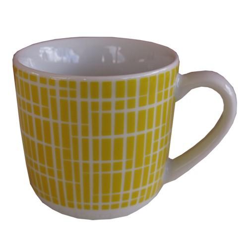 Arzberg Form 1382 Espressotasse gelb Bastdekor maisgelb My first Retro 50er Jahre Porzellan