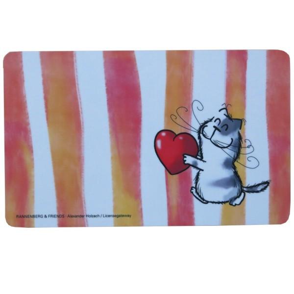 Rannenberg Frühstücksbrettchen Katze Catzz von Herzen
