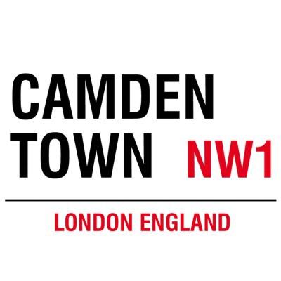 Metallschild Camden Town mittel Blechschild London Magnettafel