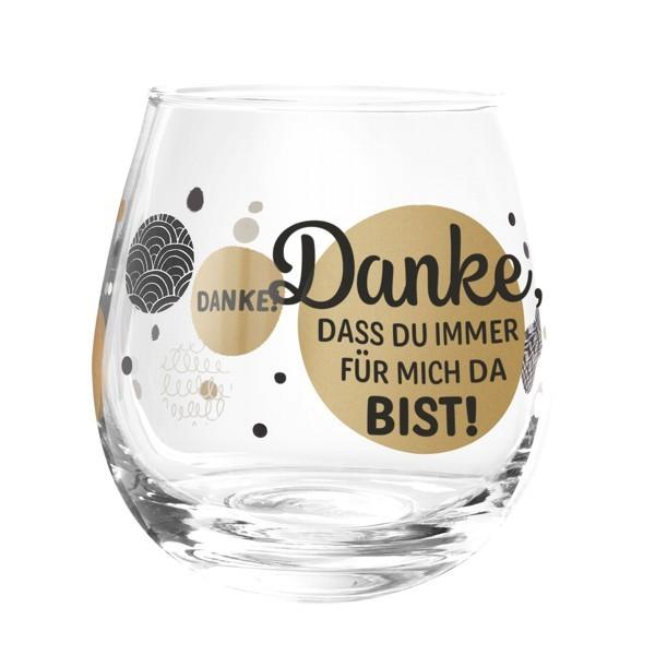 Formano Glas Spruch Danke dass du immer für mich da bist Prosit Wein Cocktail