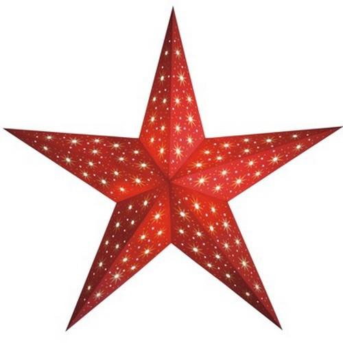 Starlightz Stern Starlet rot 60 cm Leuchtstern Papier Faltstern Weihnachtsstern