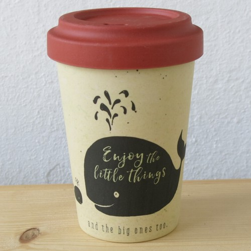 Bamboo Cup Coffee to go Becher Bambus Enjoy the little