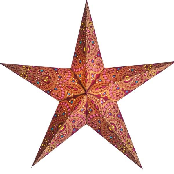 Starlightz Stern Devi apricot Leuchtstern Faltstern Papier Weihnachtsstern