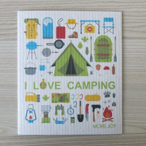Spüllappen waschbar I love Camping More Joy