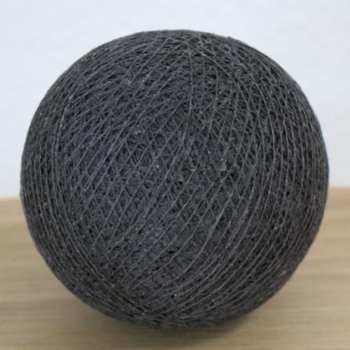 Cotton Ball Lights Kugel anthrazit für Bälle Lichterkette Baumwolle