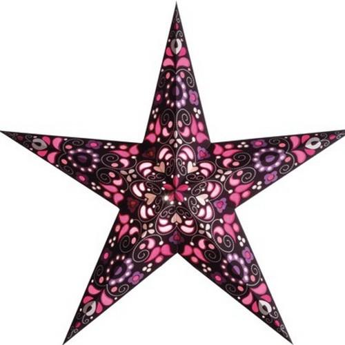 Starlightz Kurbits pink Leuchtstern Papier Stern Lampe Weihnachtsstern