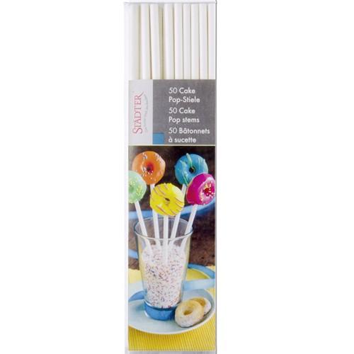 CakePop Stiele 50 Stück Lolli-Sticks Papierstiele 10 cm Städter