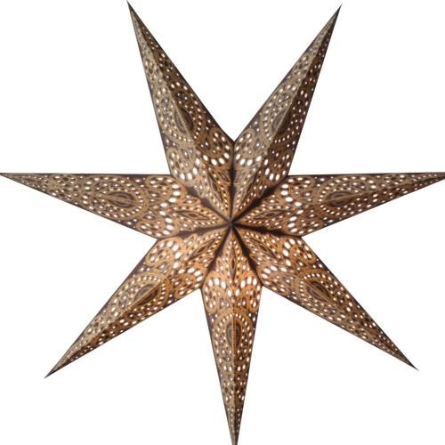 Starlightz Marrakesh braun gelb Leuchtstern Papier Stern Lampe Weihnachtsst