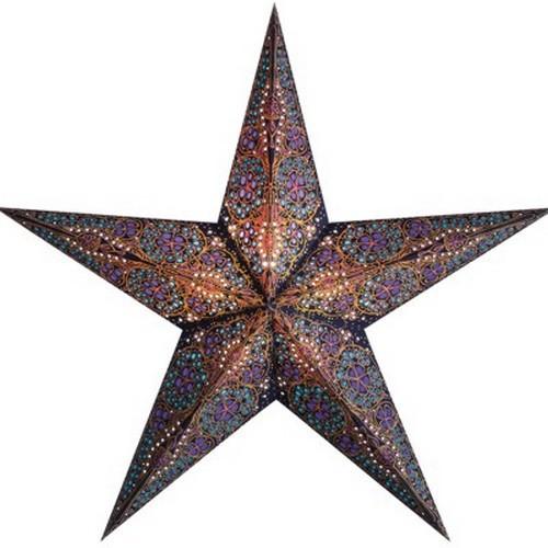Starlightz Kalea blau bunt Leuchtstern Papier Stern Lampe Weihnachtsstern